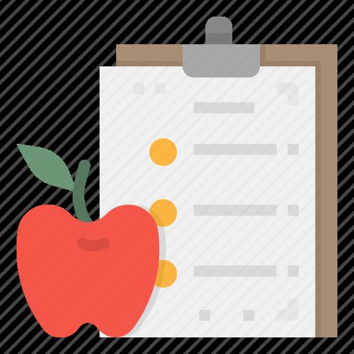 apple, diet, fitness, healthcare, plan icon