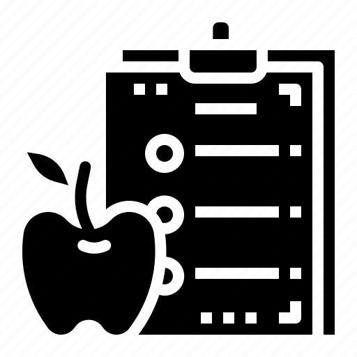 apple, diet, fitness, healthcare, plan icon