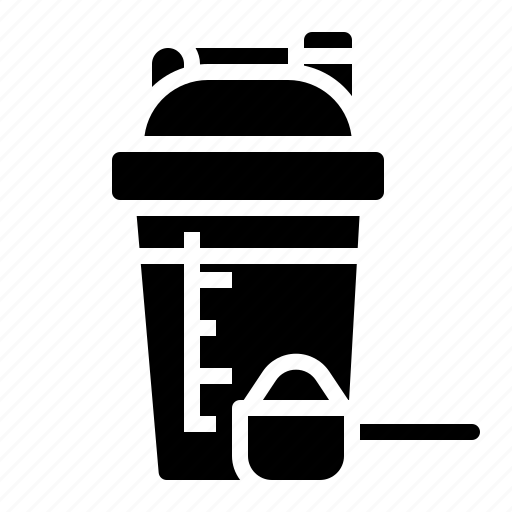 cup, healthcare, powder, proteins, whey icon