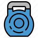 fitness, gym, kettlebell, weight, weightlift icon