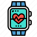 health, heart, smartwatch, sports, watch icon