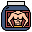healthcare, protein, supplement, vitamin, whey icon