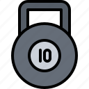 fitness, gym, kettlebell, sport, weight, workout icon