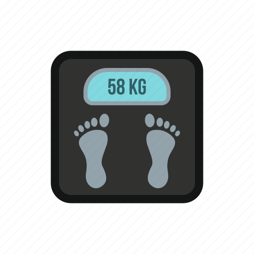 balance, fitness, foot, health, lifestyle, scale, weight icon