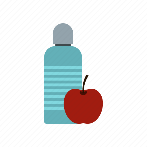 apple, bottle, delicious, diet, food, sweet, water icon