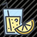 juice, drink, glass, lemon, orange
