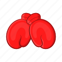 boxing, cartoon, equipment, fight, gloves, sign, sport icon