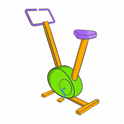 bike, cartoon, fitness, muscle, physical, plastic, sign icon