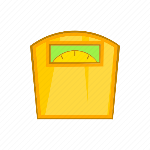 balance, cartoon, scales, sign, weigh, weight, yellow icon