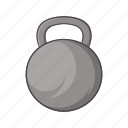 cartoon, heavy, kilogram, sign, sports, strength, weight icon