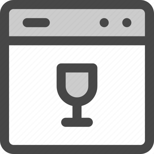 appliance, dish washer, dishes, glasses, household, kitchen, washing machine icon