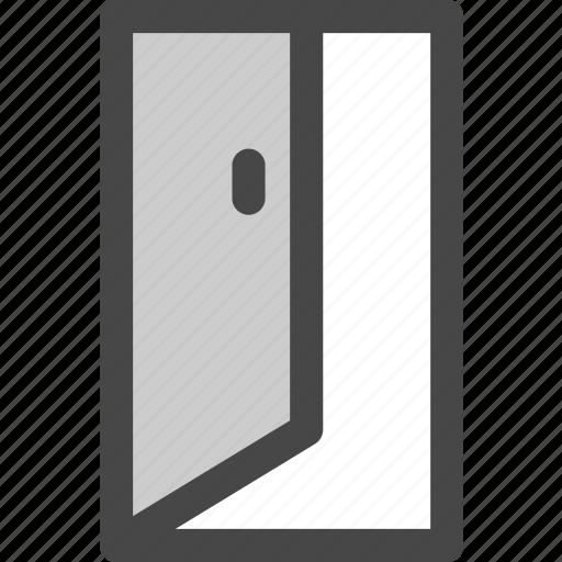 door, doorway, entrance, exit, house, open, passage icon