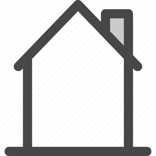 architecture, building, chimney, home, homepage, house, roof icon