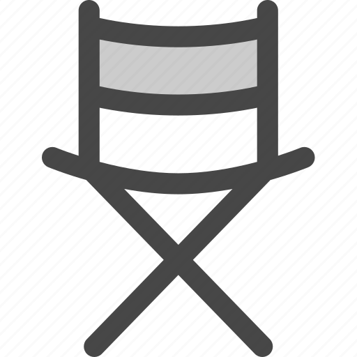 chair, director, foldable, furniture, movie, outdoors, seat icon