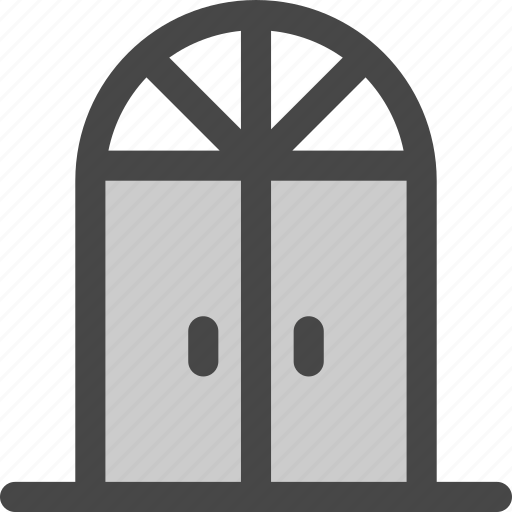 doors, doorway, double, french, front, household, visitor icon