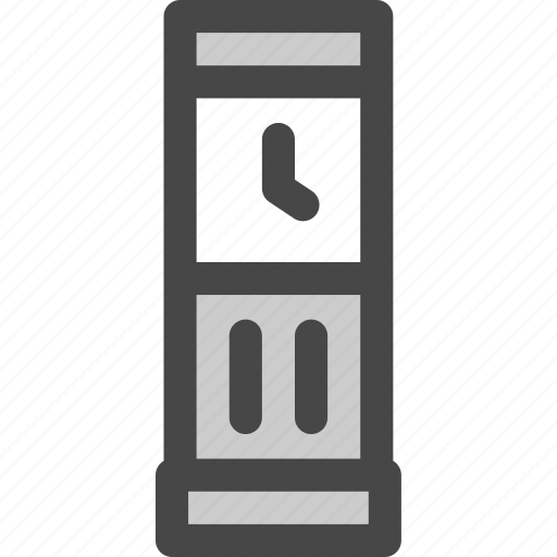 analog, clock, furniture, household, retro, time, wall icon