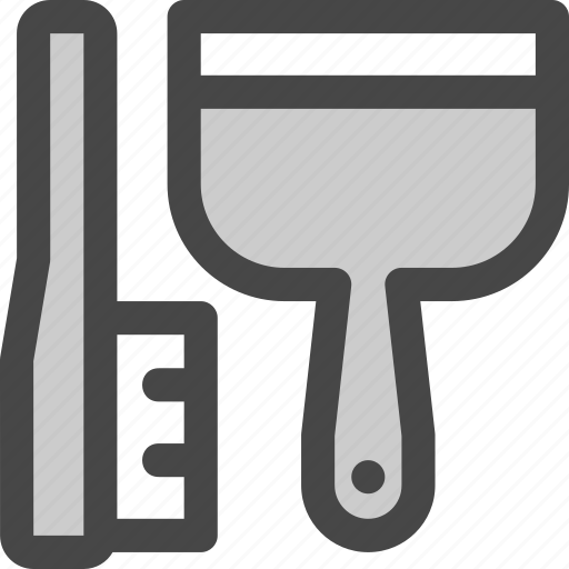 broom, cleanup, dirt, dust, home, kit, shovel icon