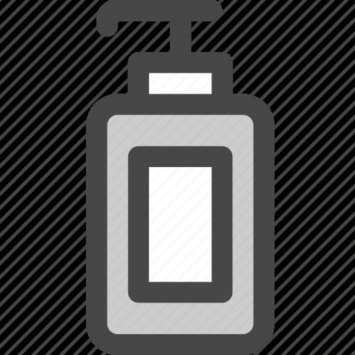 bathroom, bottle, container, dispenser, lotion, shampoo, soap icon