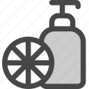 bathroom, citrus, dispenser, fruit, lotion, shampoo, soap icon