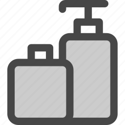 beauty, bottle, care, dispenser, lotion, shampoo, skin icon