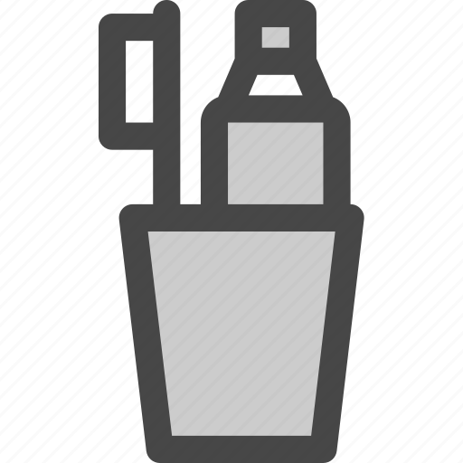 cup, dental, hygiene, paste, tooth, toothbrush, toothpaste icon