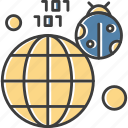 bug, earth, web, world