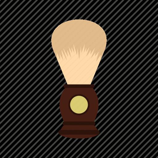beard, brown, brush, hygiene, men, shave, wooden icon