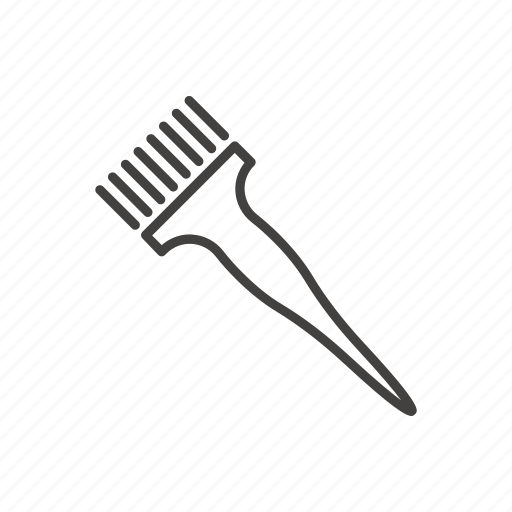 barber shop, brush, cosmetics, hair, hairdressing equipment, line, thin icon