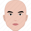bald, face, hairstyle, head, male, man, no hair