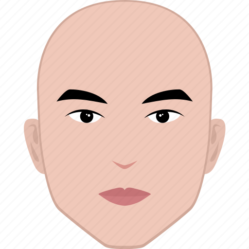 bald, face, hairstyle, head, male, man, no hair icon