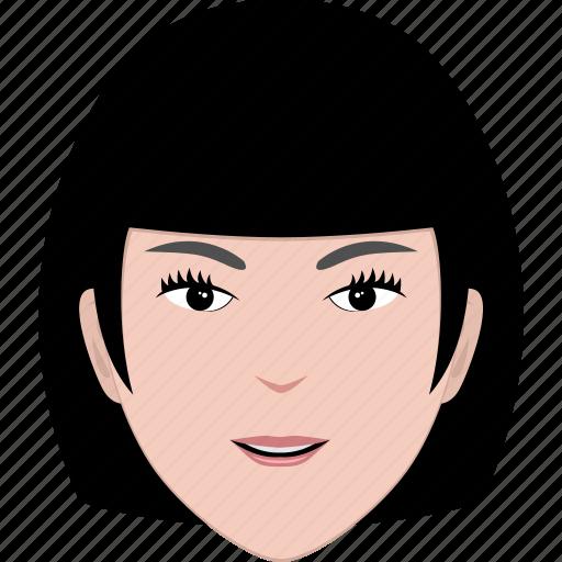 avatar, cartoon, face, hair, hairstyle, short, woman icon