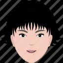 face, female, hair, hairstyle, head, short, woman