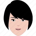 face, girl, hair, hairstyle, modern, short, woman icon