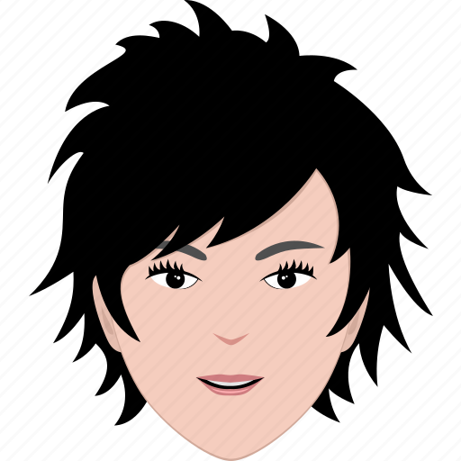 face, female, girl, hair, hairstyle, short, woman icon