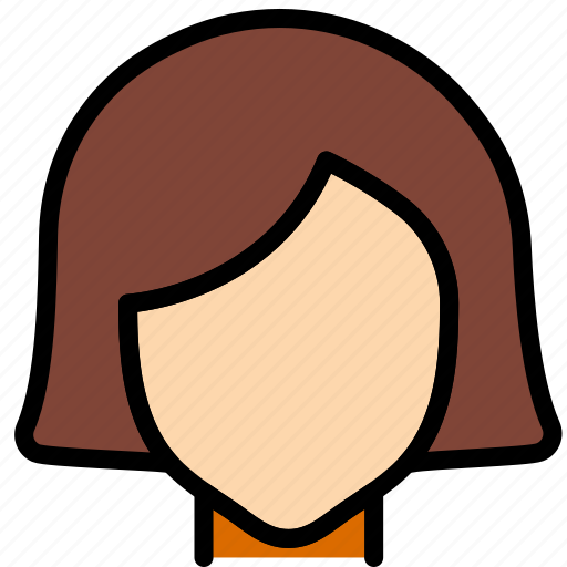 Hair, hairstyle, woman, beauty icon - Download on Iconfinder