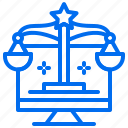 balance, computer, justice, law