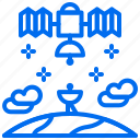 communication, connect, earth, gps, planet, satellite, space icon