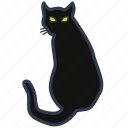 animal, black cat, cat, halloween, misfortune, pet, trouble icon