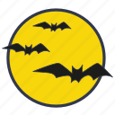 bats, full moon, halloween, moon, evil, night icon