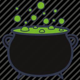 boiler, death, halloween, horror, poison, pot, potion icon