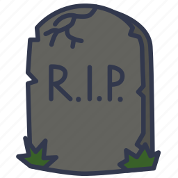 dead, deceased, grave, gravestone, halloween, rip, tomb icon