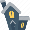 eve, frightening, halloween house, haunted house, mansion icon