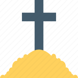grave, graveyard cross, halloween cross, holy cross, tomb cross icon