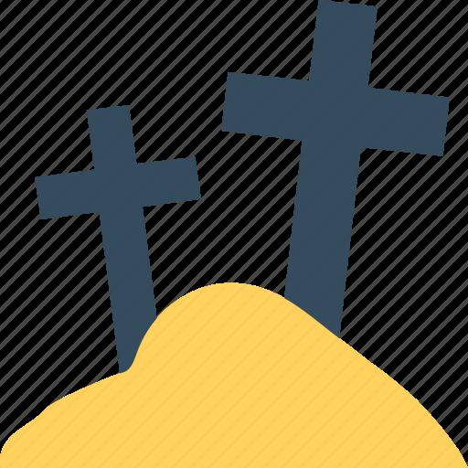 grave, graveyard cross, halloween cross, holy cross, tomb cross icon