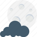 black clouds, dark, moon, night, nighttime icon