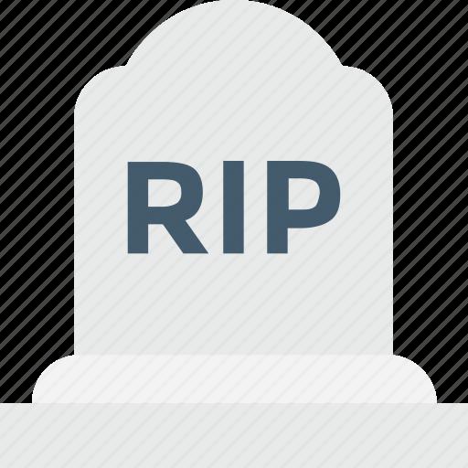 gravestone, headstone, rip, spooky, tombstone icon