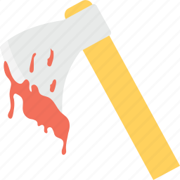 axe, bloody axe, butcher axe, halloween, halloween axe icon
