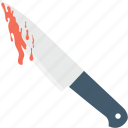 blooding, bloody knife, butcher knife, halloween, murder icon