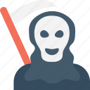 death, ghost, halloween, halloween death, scythe icon