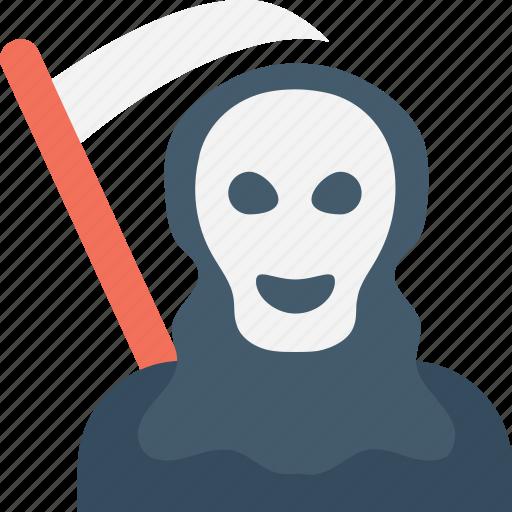 death, ghost, halloween, halloween death, scythe icon